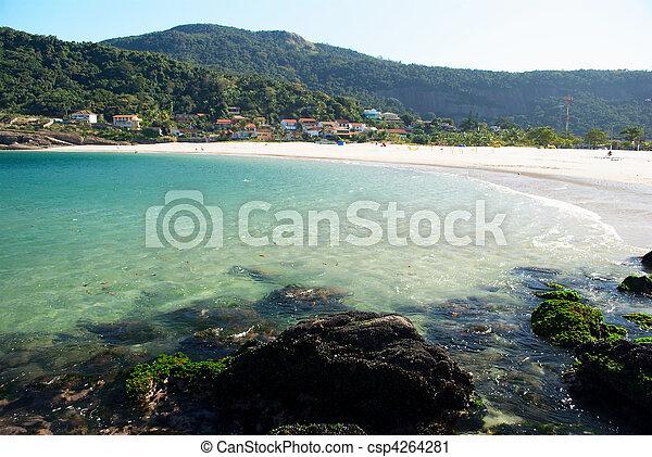Playa en Rio de Janeiro, Brasil - csp4264281
