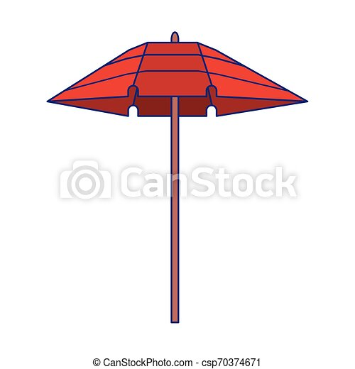 Un símbolo aislado del paraguas de playa - csp70374671