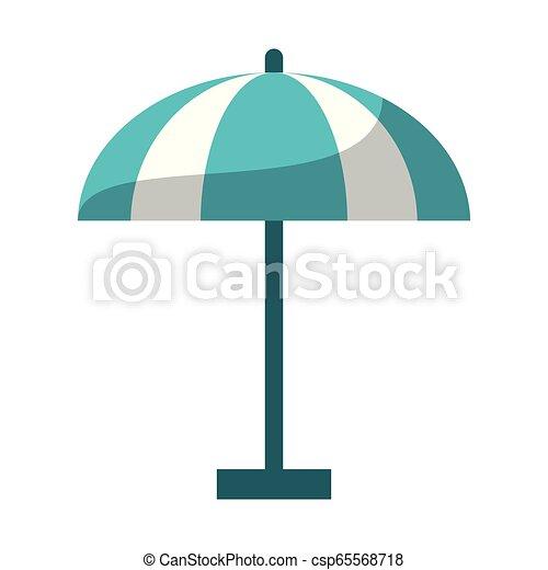 El símbolo del paraguas de playa - csp65568718