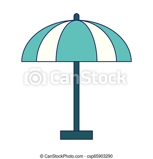 El símbolo del paraguas de playa - csp65903290