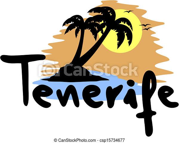 Ilustraciones vectoriales de playa tenerife creative - Diseno tenerife ...