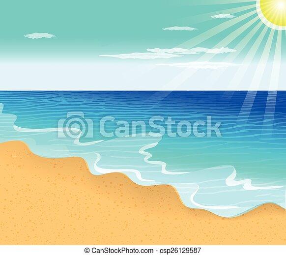 Playa tropical - csp26129587