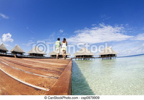 Playa tropical - csp0979909