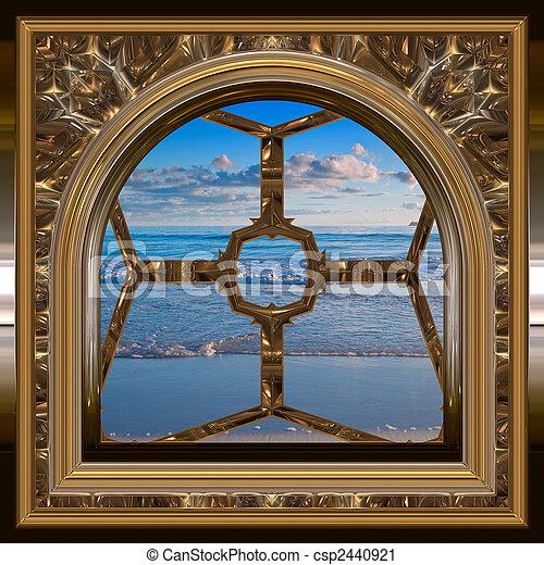 Por la ventana - csp2440921