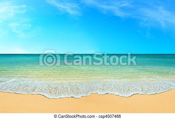 En verano en la playa - csp4507488