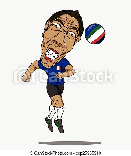 player., football, italie - csp25365310