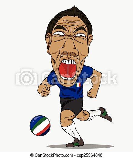 player., football, italie - csp25364848