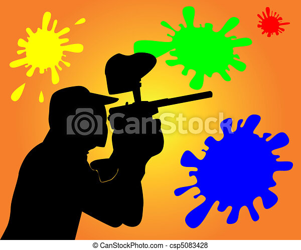 player in a paintball - csp5083428