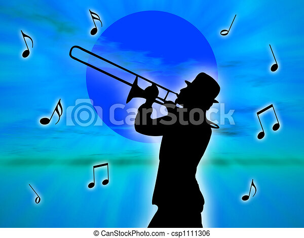 Player in the sunset - csp1111306