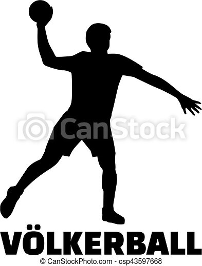 player with dodgeball german clip art vector - search drawings and