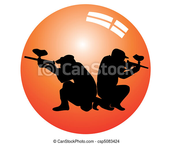 players in a paintball - csp5083424