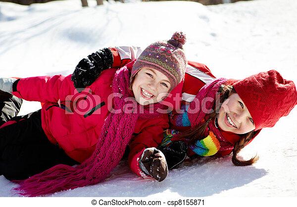 Playful girls - csp8155871