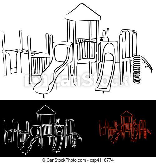 Playground Equipment - csp4116774