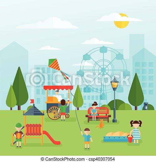 Playground Flat Concept - csp40307054