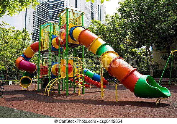 Playground in the park - csp8442054