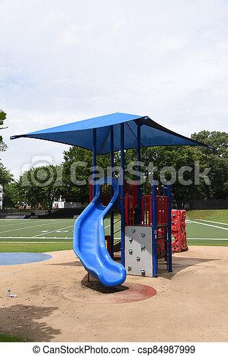 Playground is Empty at School - csp84987999