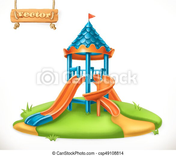 playground slide play area for children 3d vector icon vector clip rh canstockphoto com Clip Art Dramatic Play Area Red Clip Art Play Area