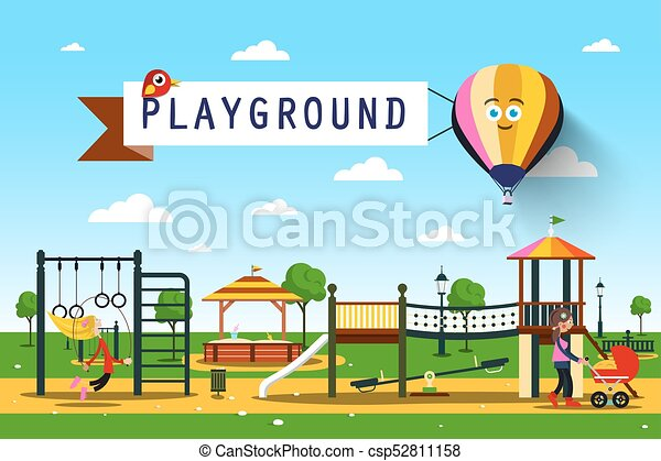 playground., vecteur, parc, illustration. - csp52811158