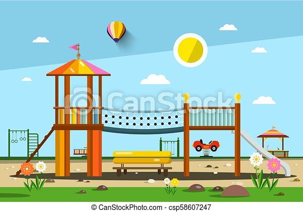 Playground. Vector City Park. - csp58607247