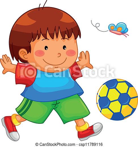 playing boy - csp11789116