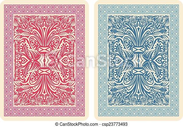 Line Art Vector Illustrator : Playing card back designs vector illustrator eps vectors
