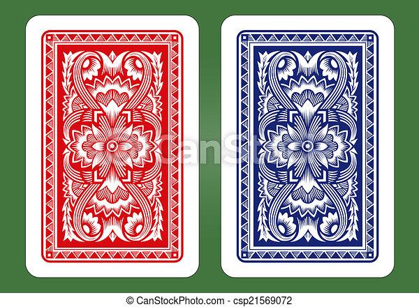 Playing Card Back Designs.  - csp21569072