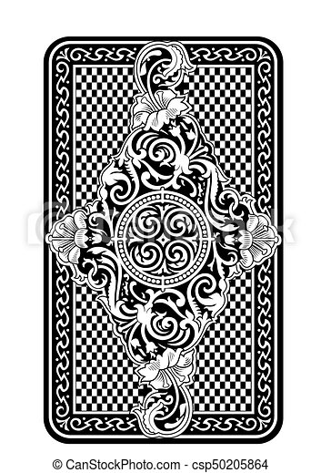 Playing card back side pattern.