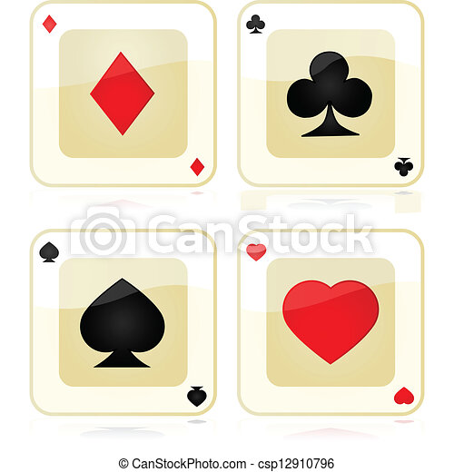 Playing card icons - csp12910796