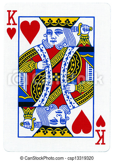 Playing Card - King of Hearts - csp13319320