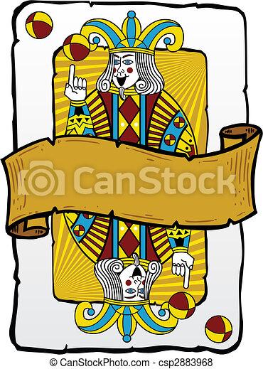Playing card style Joker illustration - csp2883968