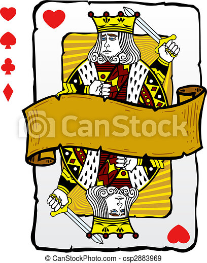 Playing card style king illustration - csp2883969