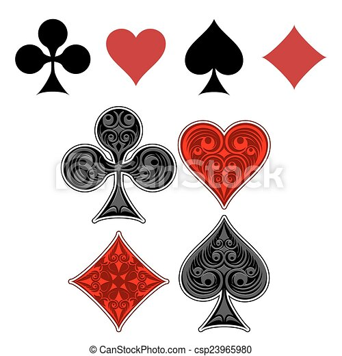 Playing card suit icons - csp23965980