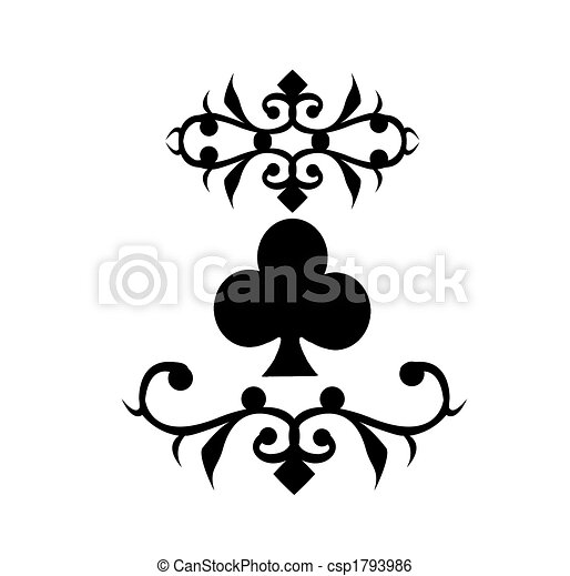 Playing Card Symbol Clubs