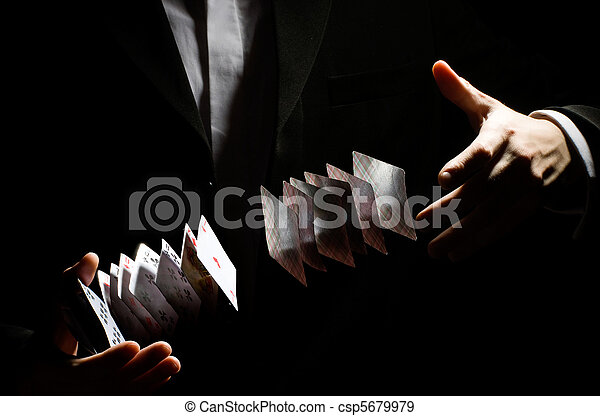playing-card trick - csp5679979