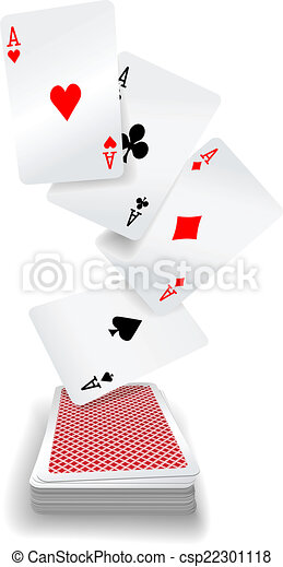 Playing cards aces poker deck - csp22301118
