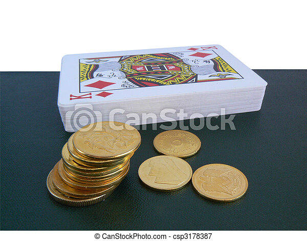 Playing cards and money - csp3178387