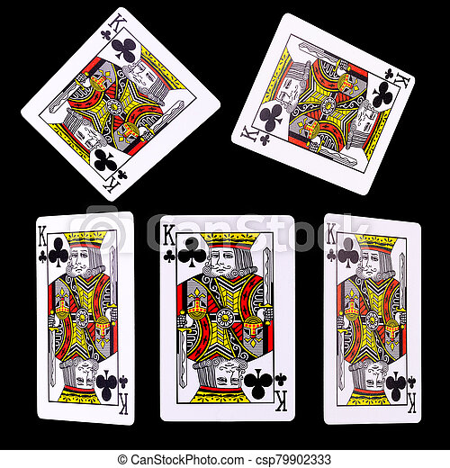 Playing Cards For Poker Game On Black Background Concept Of Gamble Games And Casino Canstock