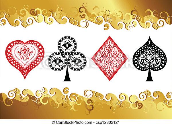 Jugando cartas - csp12302121