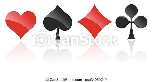 playing cards symbols - csp34069740