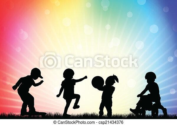 Playing children - csp21434376