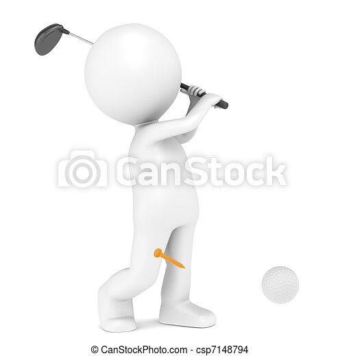 Playing Golf - csp7148794