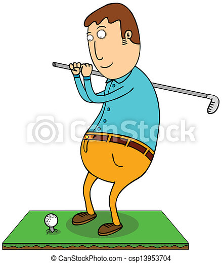 playing golf - csp13953704