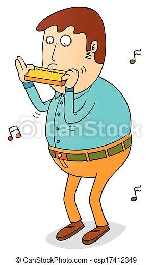 playing harmonica eps vector search clip art illustration rh canstockphoto com harmonica clipart free harmonica clipart free