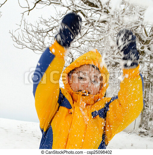 Playing in the snow - csp25098402