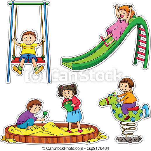 playing kids - csp9176484