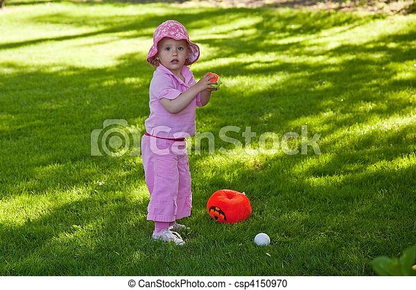 Playing on the grass - csp4150970