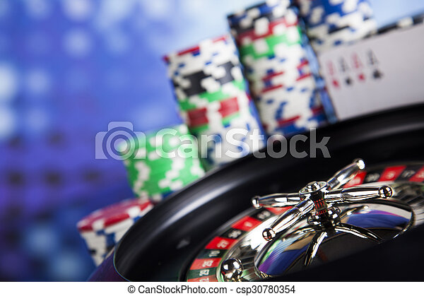 Playing roulette in the casino - csp30780354
