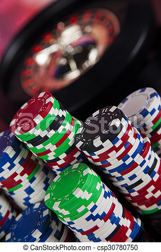 Playing roulette in the casino - csp30780750