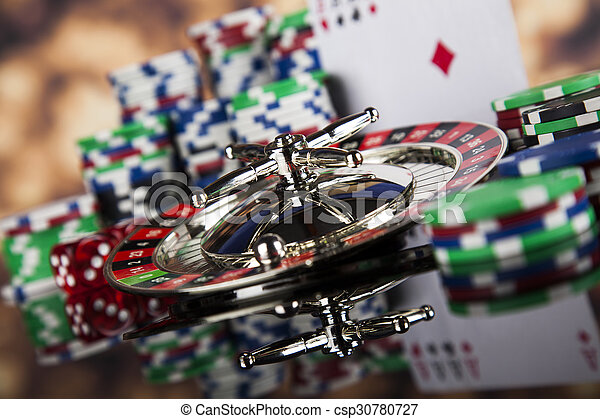 Playing roulette in the casino - csp30780727