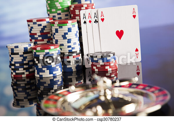Playing roulette in the casino - csp30780237